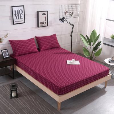 2019新款水洗棉单品格子床笠 适用于15-25cm之内的床垫 90X200+25 盛夏