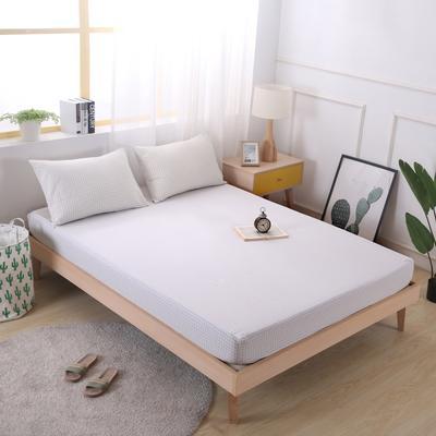 2019新款水洗棉单品格子床笠 适用于15-25cm之内的床垫 90X200+25 小白格