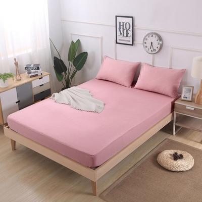 2019新款水洗棉单品格子床笠 适用于15-25cm之内的床垫 90X200+25 小粉格