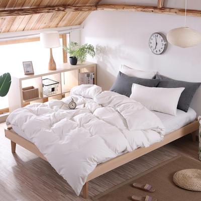 2020新款水洗棉四件套(纯色5色) 1.2m床单款三件套 本白色
