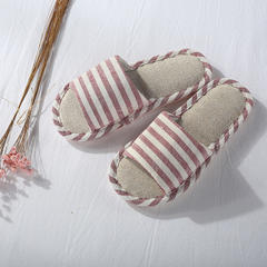 家居拖鞋 女款 均码 红咖条纹