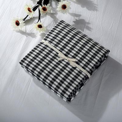 2019新款水洗棉单品系列 水洗棉单品被套 120x150cm 错落灰格