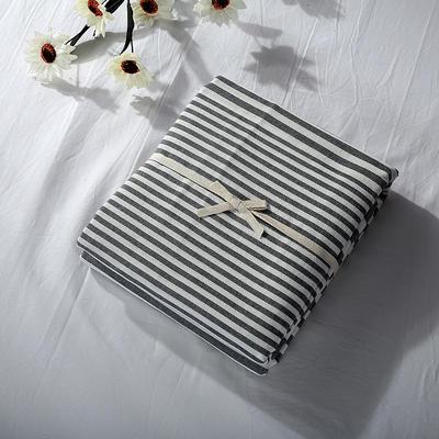 2019新款水洗棉单品系列 水洗棉单品被套 120x150cm 错落灰条