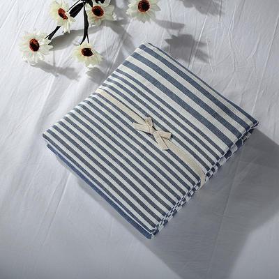 2019新款水洗棉单品系列 水洗棉单品被套 120x150cm 错落蓝条