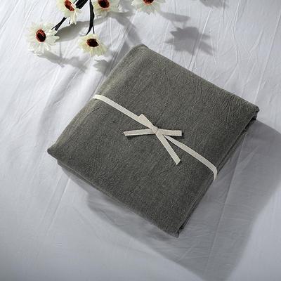 2019新款水洗棉单品系列 水洗棉单品被套 120x150cm 冷灰纯色