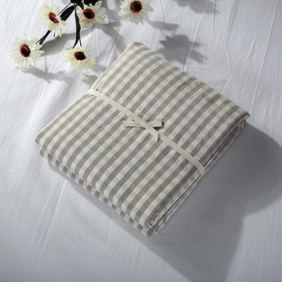 2019新款水洗棉单品系列 水洗棉单品被套 120x150cm 米色小格