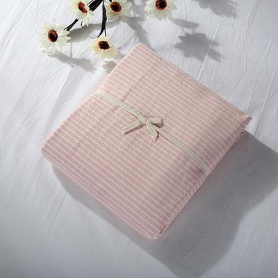 2019新款水洗棉单品系列 水洗棉单品被套 120x150cm 蜜粉细条