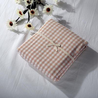 2019新款水洗棉单品系列 水洗棉单品被套 150X200cm 蜜粉小格