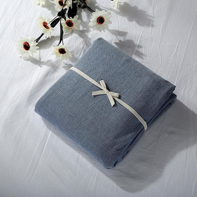 2019新款水洗棉单品系列 水洗棉单品被套 120x150cm 牛仔蓝色