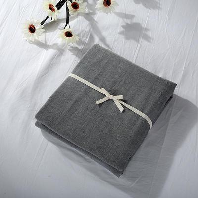 2019新款水洗棉单品系列 水洗棉单品被套 120x150cm 深灰纯色
