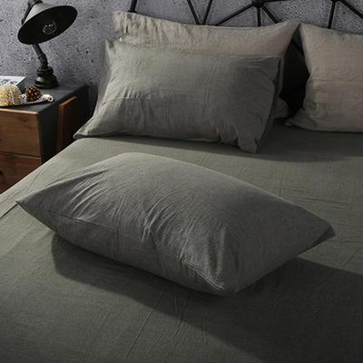 2019新款水洗棉单品系列 单品枕套 48*74cm/个 冷灰色