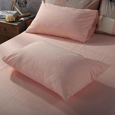2019新款水洗棉单品系列 单品枕套 48*74cm/个 蜜粉色