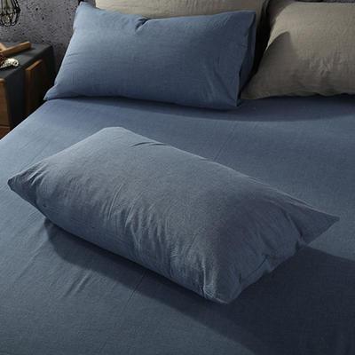 2019新款水洗棉单品系列 单品枕套 48*74cm/个 牛仔蓝色