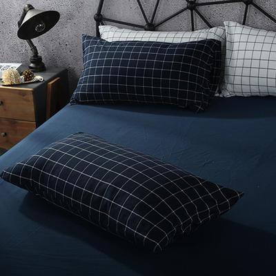 2019新款水洗棉单品系列 单品枕套 48*74cm/个 暖冬格