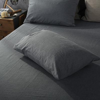 2019新款水洗棉单品系列 单品枕套 48*74cm/个 深灰色