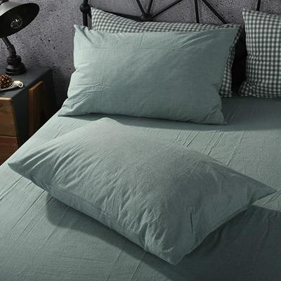 2019新款水洗棉单品系列 单品枕套 48*74cm/个 一抹绿色