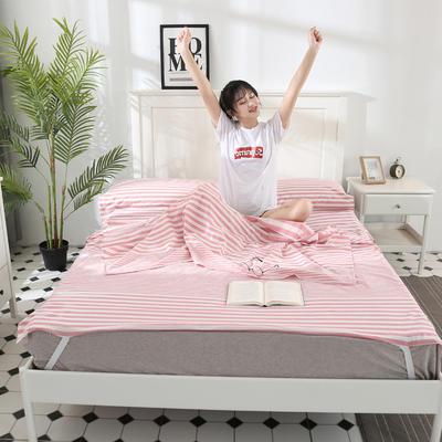 2020新款水洗棉睡袋第二批 渐变粉条(80*210m)