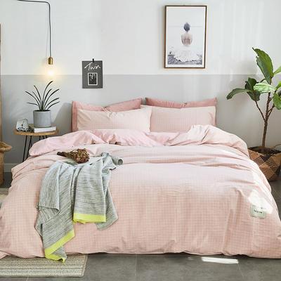 2019新款全棉水洗棉暖绒四件套 1.5m床单款 暖栀