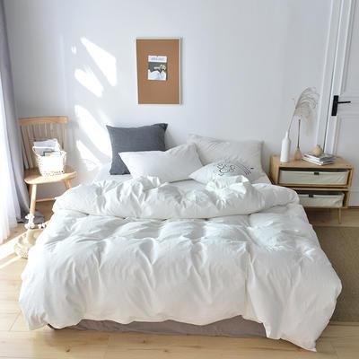 2020新款水洗棉单品被套 120x150cm(婴儿床使用) 本白