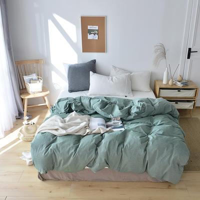 2019新款水洗棉单品被套 120x150cm(婴儿床使用) 沉绿