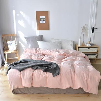 2019新款水洗棉单品被套 120x150cm(婴儿床使用) 初粉