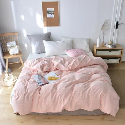 2019新款水洗棉单品被套 120x150cm(婴儿床使用) 初粉条