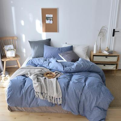 2019新款水洗棉单品被套 120x150cm(婴儿床使用) 海蓝