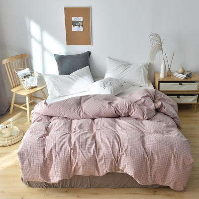 2019新款水洗棉单品被套 120x150cm(婴儿床使用) 京都格粉