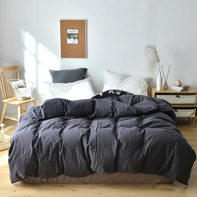 2019新款水洗棉单品被套 120x150cm(婴儿床使用) 京都格灰