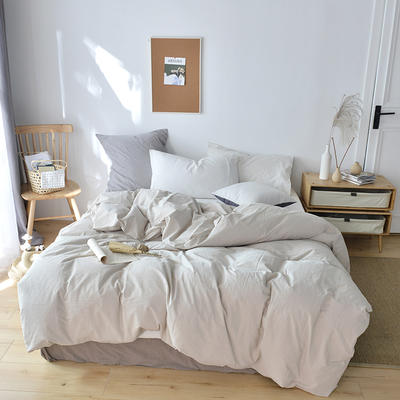 2019新款水洗棉单品被套 120x150cm(婴儿床使用) 卡其米