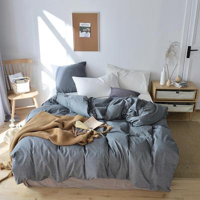 2019新款水洗棉单品被套 120x150cm(婴儿床使用) 铅灰