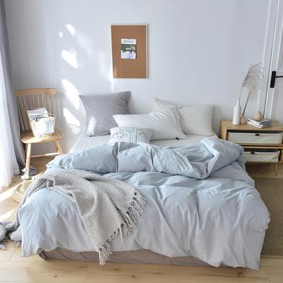 2019新款水洗棉单品被套 120x150cm(婴儿床使用) 水蓝