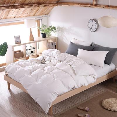 2020新款水洗棉四件套-纯色 1.2m床单款三件套 本白色
