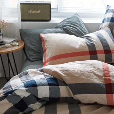 2020新款水洗棉单品系列 单品枕套 48*74cm/对 宝利格