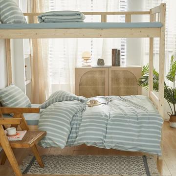2021新款色织水洗棉学生宿舍三件套
