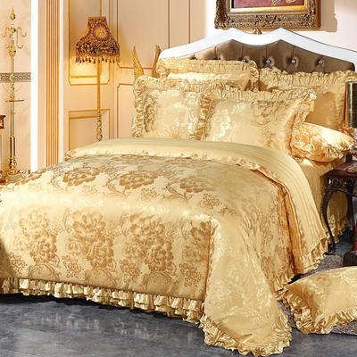韩版提花床盖四件套六件套 包装 繁花似锦
