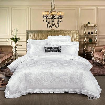 韩版提花床盖四件套六件套 包装 英伦风尚