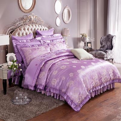 提花加棉床裙床罩四件套六件套 1.5米床 奥兰帝