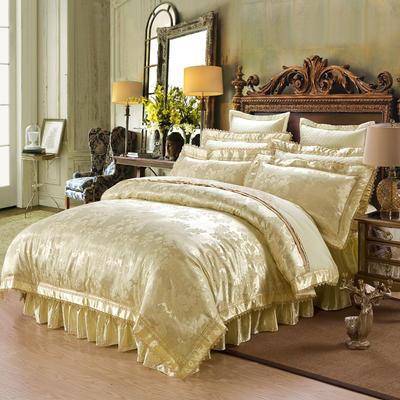 提花加棉床裙床罩四件套六件套 夹棉靠垫套 60*60cm/对 豪庭盛世