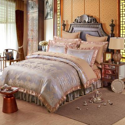 提花加棉床裙床罩四件套六件套 夹棉靠垫套 60*60cm/对 帕芙
