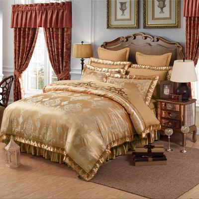 提花加棉床裙床罩四件套六件套 1.5米床 至尊时尚