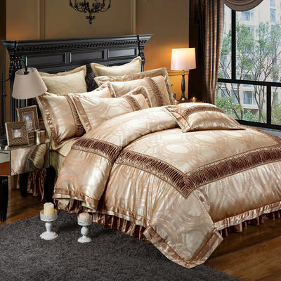 提花夹棉拉链床裙款 1.5米床 金杯琉璃