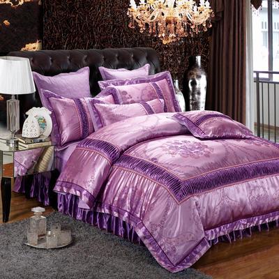提花夹棉拉链床裙款 1.5米床 梦幻梦影