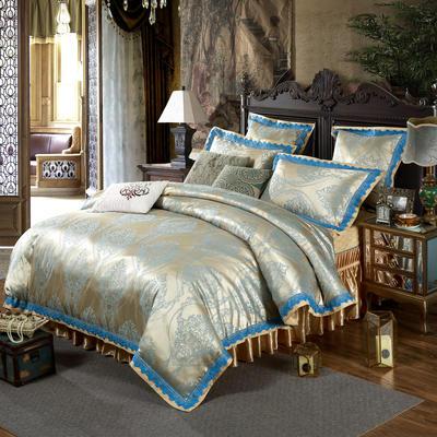 新款提花床裙四件套 可以定做长枕套 /只 达芙妮