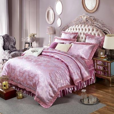 新款提花床裙四件套 可以定做长枕套 /只 华丽城堡