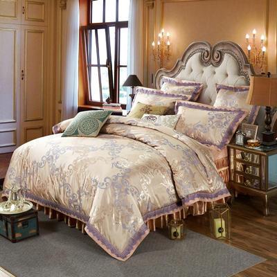 新款提花床裙四件套 可以定做长枕套 /只 简尚风姿