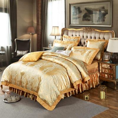 新款提花床裙四件套 可以定做长枕套 /只 科鲁兹莱