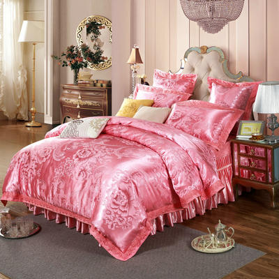新款提花床裙四件套 可以定做长枕套 /只 香影丽恋