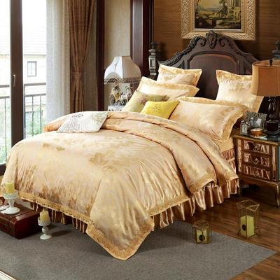 新款提花床裙四件套 可以定做长枕套 /只 雅韵华彩