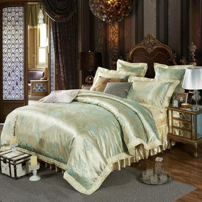 新款提花床裙四件套 可以定做长枕套 /只 月色天香